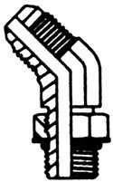 STEEL JIC ADAPTER MALE O-RING THREAD 45