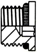 STEEL ADAPTER BOSS O-RING THREAD HEX FLUSH SOCKET PLUG